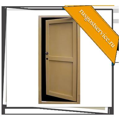 металлические однолистовые двери